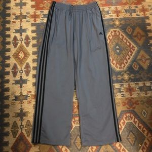 Men's adidas gray and black track pants